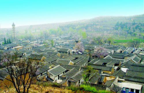 手绘东北民居风景