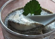 黑芝麻奶酪布丁 布丁也可以很养生
