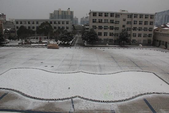 商南县高级中学雪景2