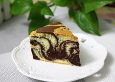 双色花纹戚风蛋糕