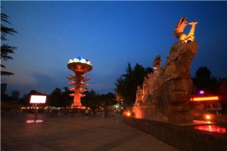宝鸡夜景-人民公园