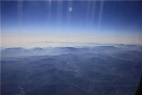 空中看秦岭