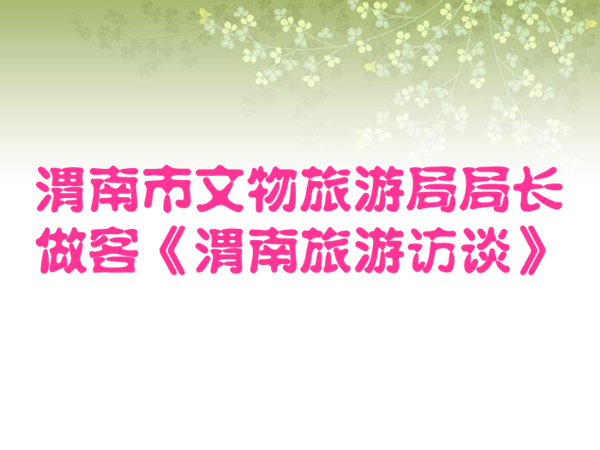 渭南市文物旅游局局长做客《渭南旅游访谈》